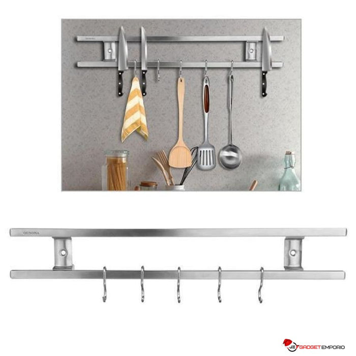 WALL MOUNTED HIGH QUALITY STAINLESS STEEL MAGNETIC KNIFE HOLDER - GadgetEmporio.com