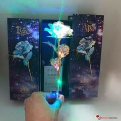 Galaxy Rose - Beautiful 24K Gold Plated Rose with LED Base Perfect Romantic Gift that Lasts Forever