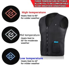 Outdoor Infrared Electric Heated Vest with Inner Thermal Coils - Keep Warm in Winter