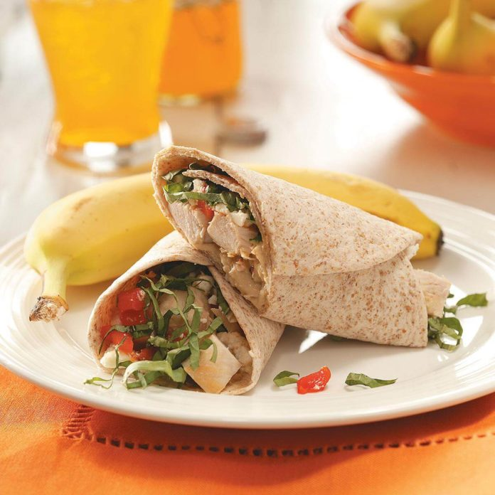 Easy & Tasty California Chicken Wraps