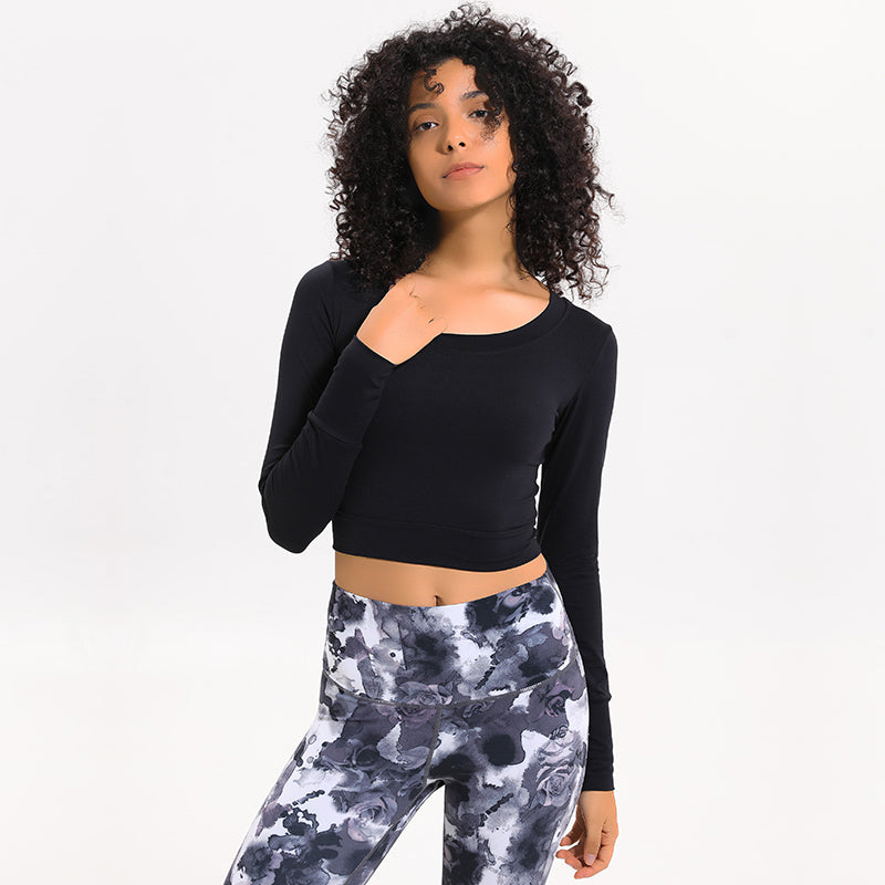 Power Crop Top - Black
