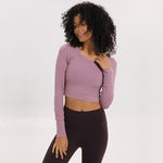 Power Crop Top - Rose