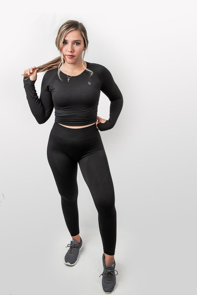 Power Seamless Leggings - Black