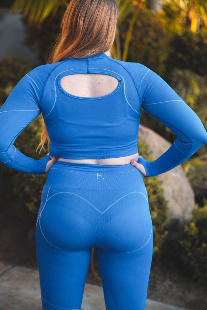 Dynamic Seamless Leggings - Royal Blue