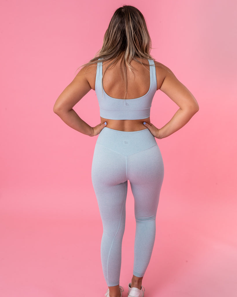 Ribbed Seamless Legging - Baby Blue