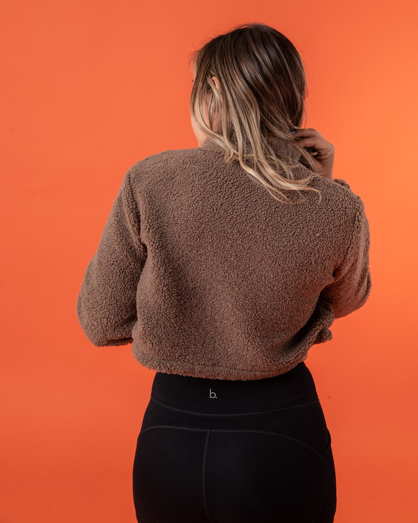 Cropped Teddy - Brown