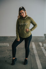 Get Up & Go Hoodie - Olive Green