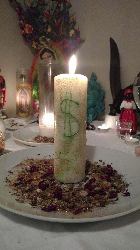 Money Blessing Candle