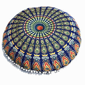 MURTIAL Pillow Case, Floor Pillows Round Bohemian Meditation Cushion Cover Ottoman Pouf: Amazon.ca: Gateway