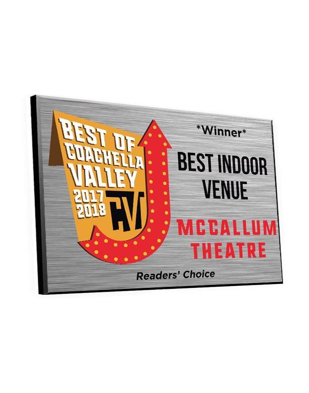 """Best of Coachella Valley"" Award Plaque"