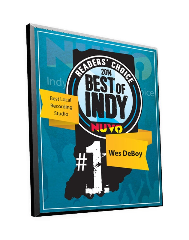 "NUVO ""Best of Indy"" Award Plaque by NewsKeepsake"