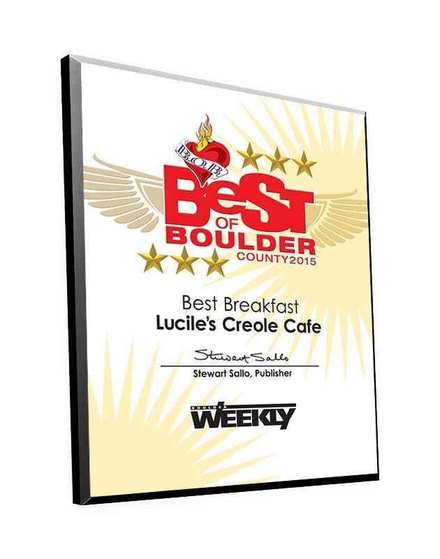 """Best of Boulder"" Award Plaque"