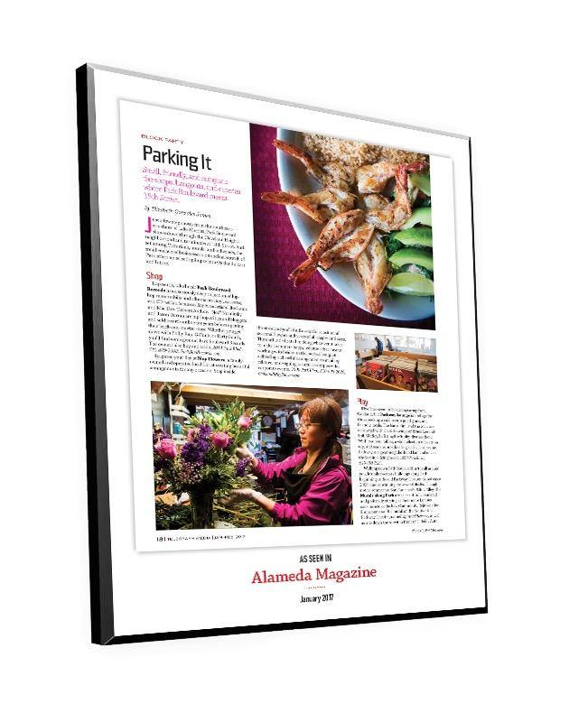 Alameda Magazine 1-Page Article Plaque by NewsKeepsake