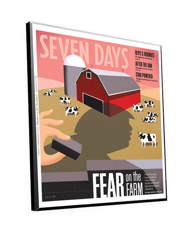 Seven Days Cover Plaque by NewsKeepsake