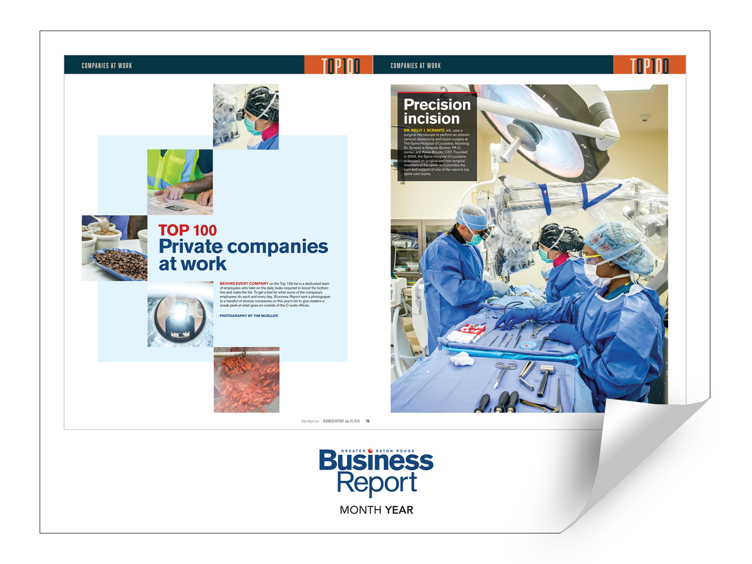 Business Report Article & Cover Spread Reprints by NewsKeepsake