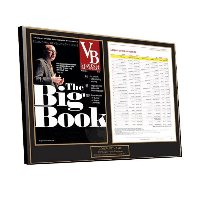 Big Book of Lists 2-Page Article Plaque