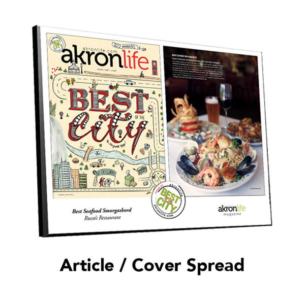 """Best of the City"" Article Spread Plaque"
