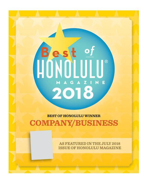 """Best of Honolulu"" Award Window Decal by NewsKeepsake"