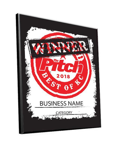 """Best of KC"" Award Wood Plaque"