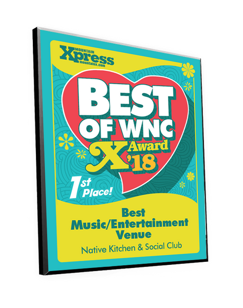 """Best of WNC"" Award Plaque by NewsKeepsake"