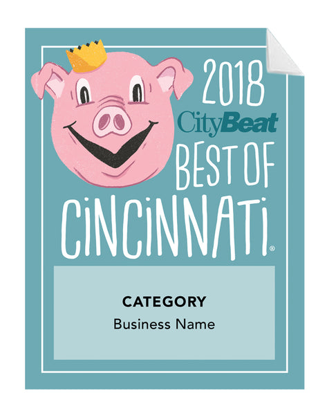 """Best of Cincinnati"" Award Window Decals"