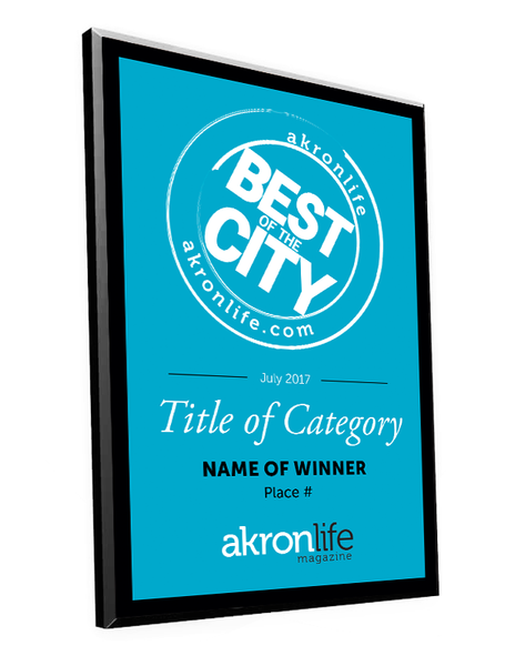 """Best of the City"" Award Plaque"