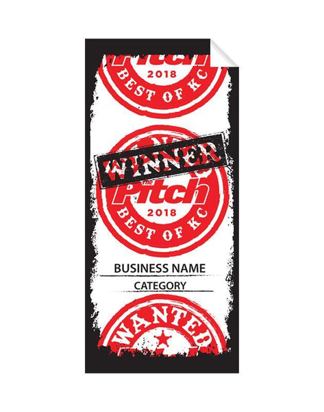 """Best of KC"" Award Window Cling"