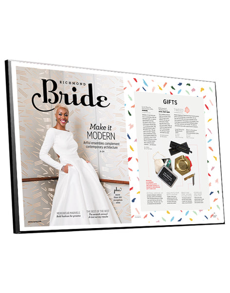 "Richmond Bride ""A-List"" Cover / Article Plaque by NewsKeepsake"