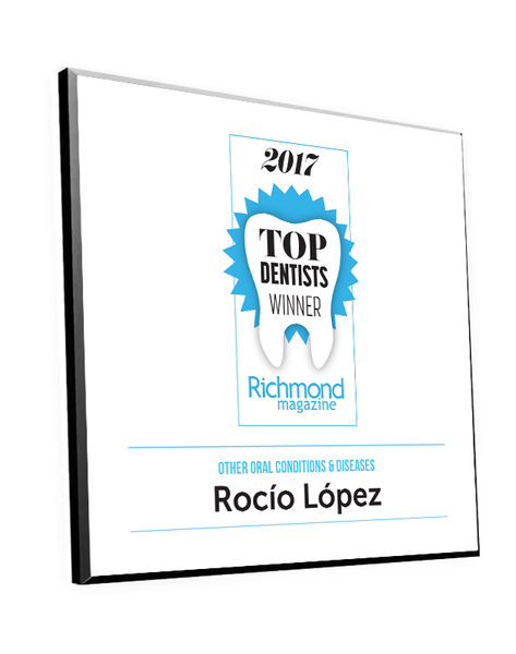 "Richmond Magazine ""Top Dentists"" Logo Award Plaque by NewsKeepsake"