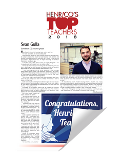 Henrico Citizen Top Teachers Reprint by NewsKeepsake