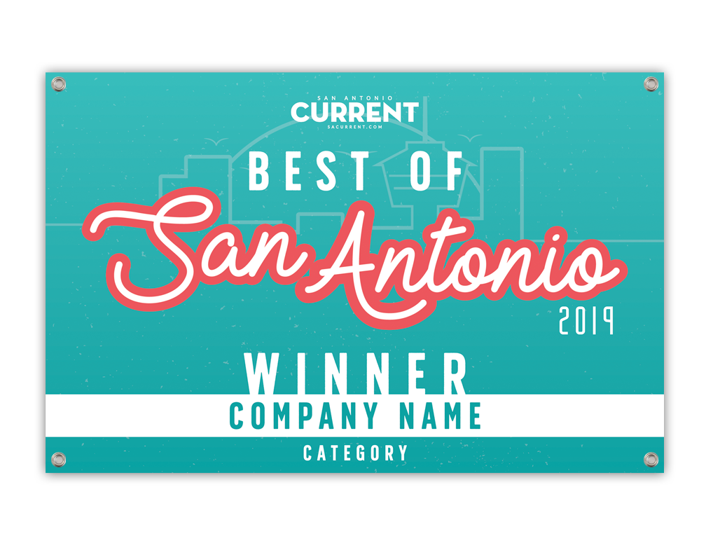 """Best of San Antonio"" Award Banner"