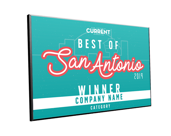 "San Antonio Current ""Best of San Antonio"" Award Plaque"