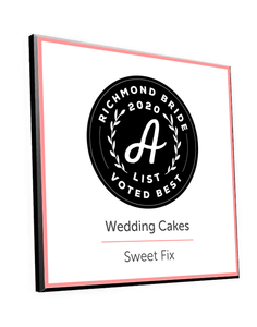"Richmond Bride ""A-List"" Logo Award Plaque"
