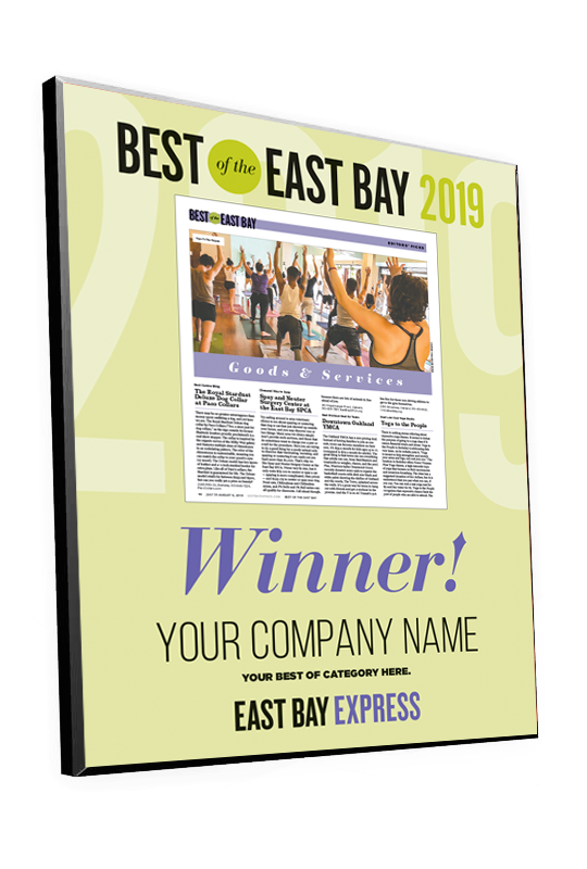 """Best of the East Bay"" Article Award Plaques"
