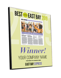 """Best of the East Bay"" Article Award Plaques by NewsKeepsake"