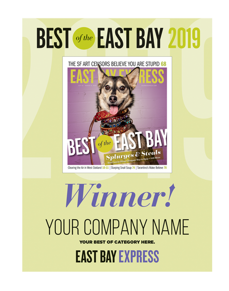 """Best of the East Bay"" Cover Award Banner"