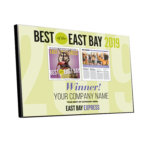 """Best of the East Bay"" Cover & Article Award Plaque"