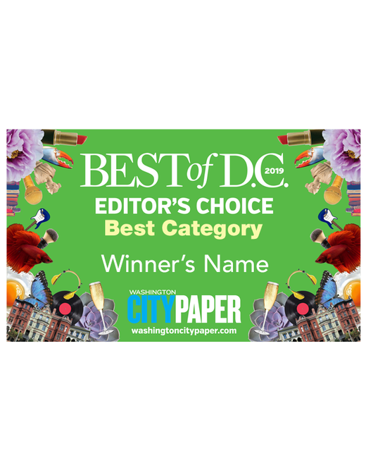 """Best of D.C."" Award Banner"