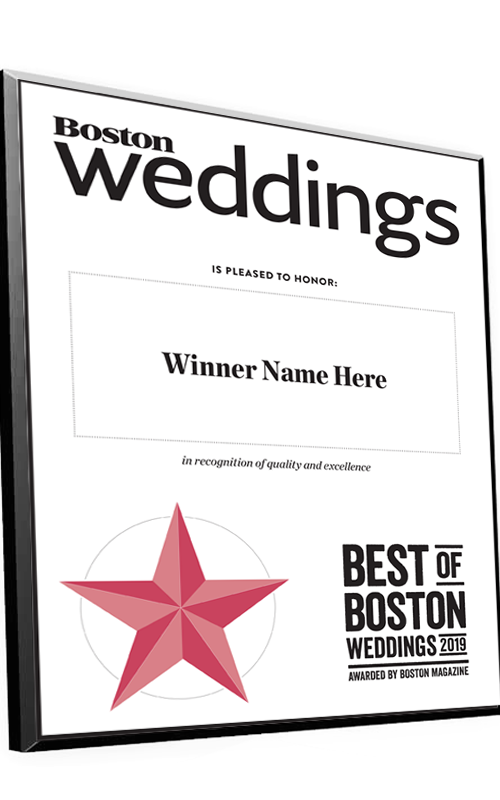 """Best of Boston Weddings"" Plaques"