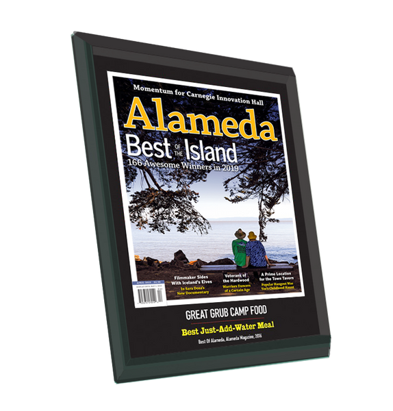 """Best of Alameda"" Award Plaque - Glass"
