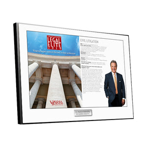 Legal Elite Cover / Article Plaque