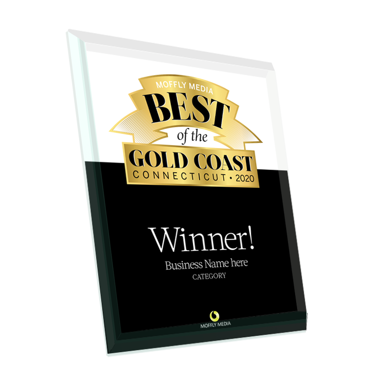 "Moffly Media ""Best of the Gold Coast"" Glass Plaque"