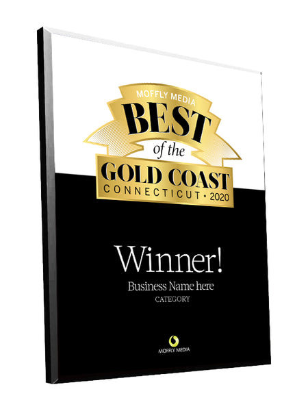 "Moffly Media ""Best of the Gold Coast"" Award Plaque by NewsKeepsake"