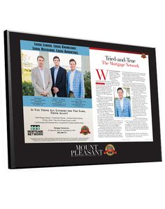 """Best of Mount Pleasant"" Ad & Editorial Plaque"