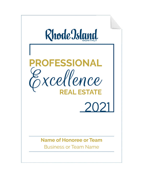 Professional Excellence in Real Estate Award Window Decals by NewsKeepsake