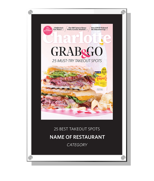 Charlotte Magazine 2021 Restaurants Award - Acrylic Standoff Plaque by NewsKeepsake