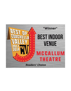 """Best of Coachella Valley"" Award Window Cling"