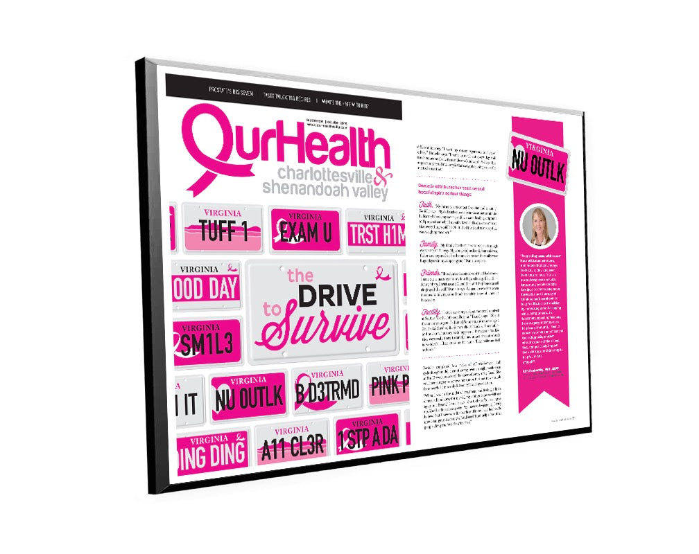 OurHealth Cover/Article Plaque by NewsKeepsake