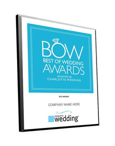 """Best of Wedding"" Award Plaque by NewsKeepsake"