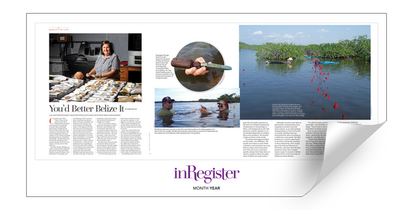 inRegister Magazine Article & Cover Spread Reprints by NewsKeepsake